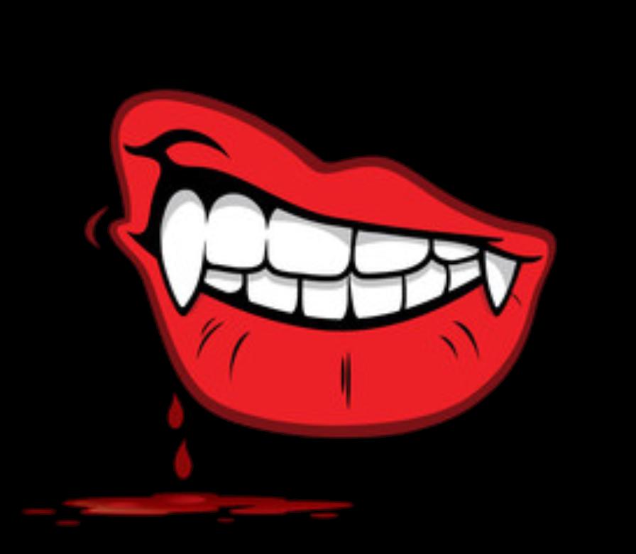 Lips blood sticker by. Vampire clipart lip