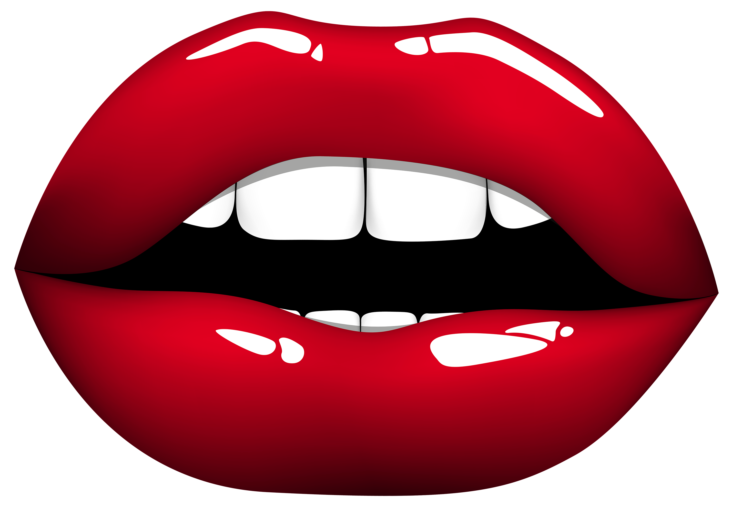 Red png best web. Zipper clipart lips
