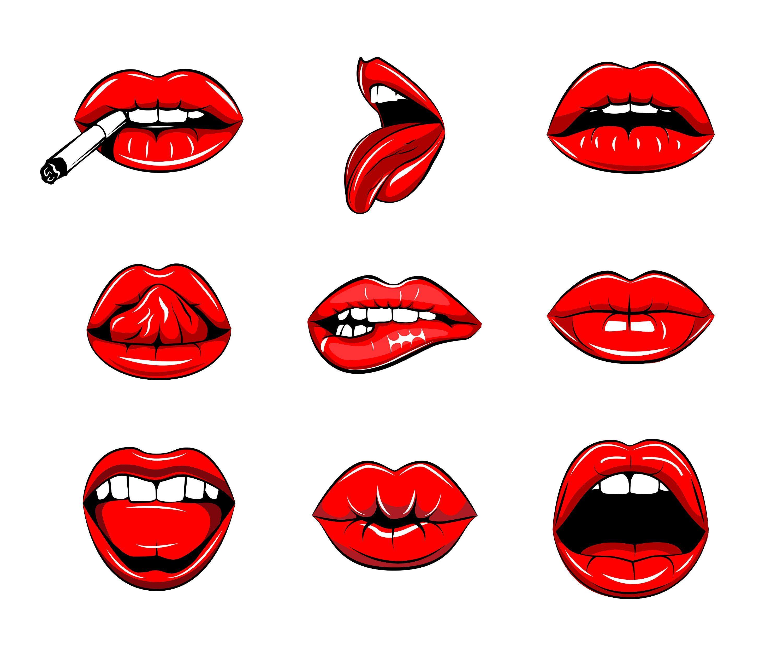 Lips clipart female lip. Pin on illustrations