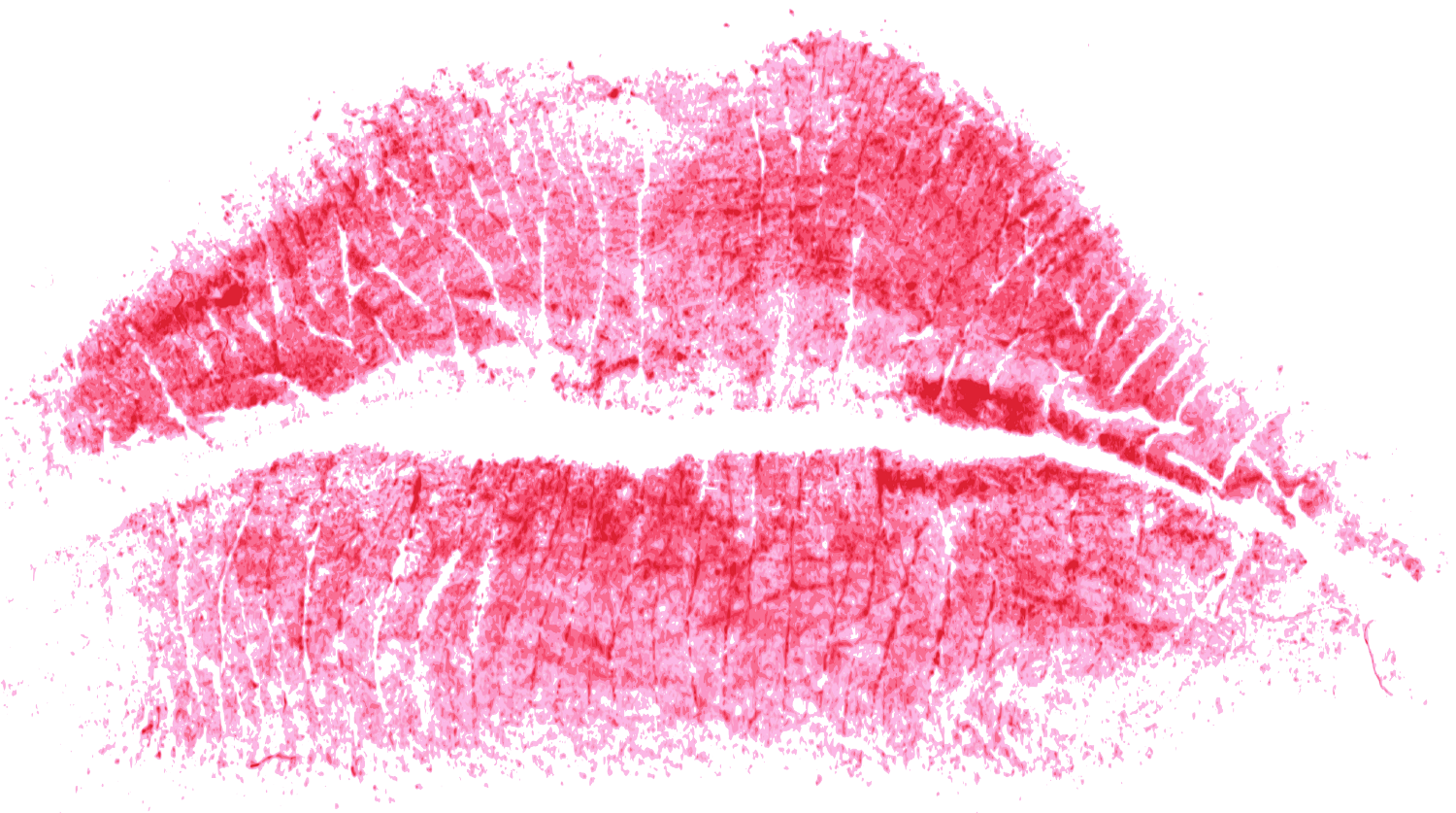 Lips clipart lipstick stain.  red print of