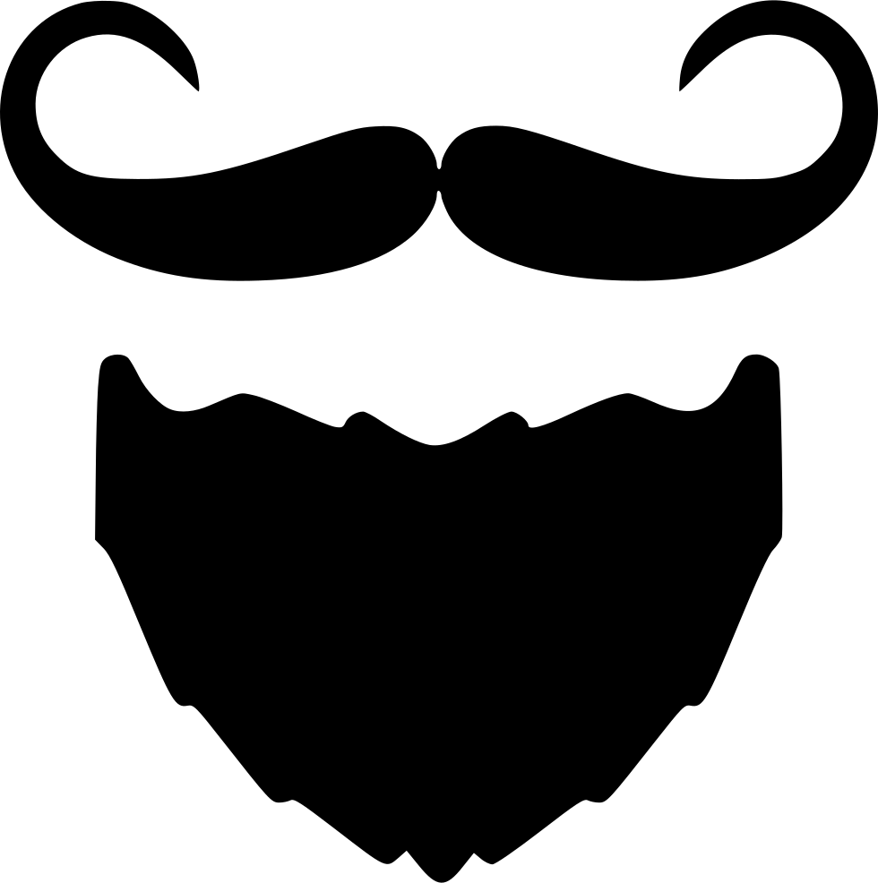 Moustache clipart file. Beard and i svg