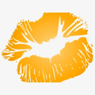 Kiss yellow lip free. Lips clipart orange