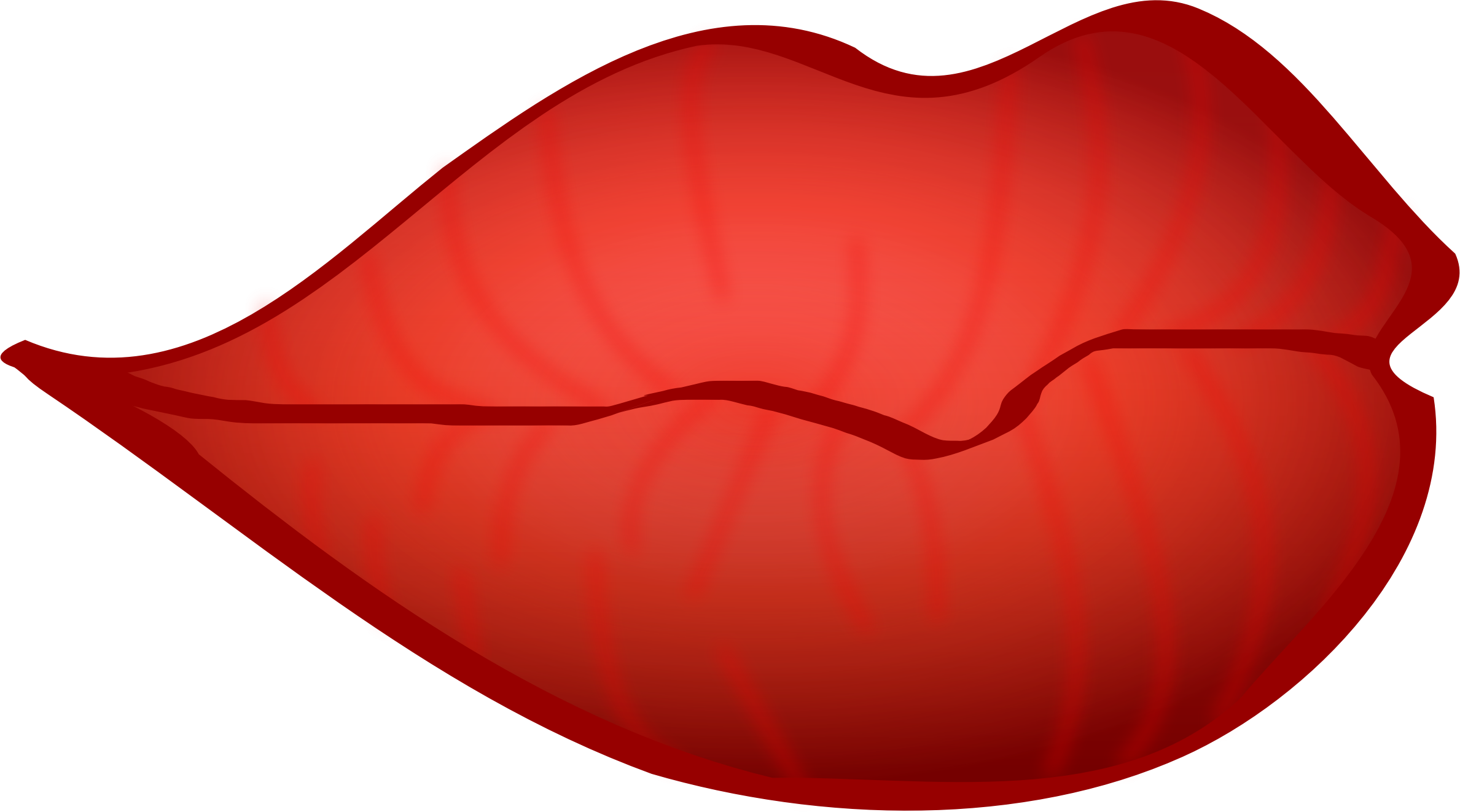 Lips clipart side mouth. Free big red download