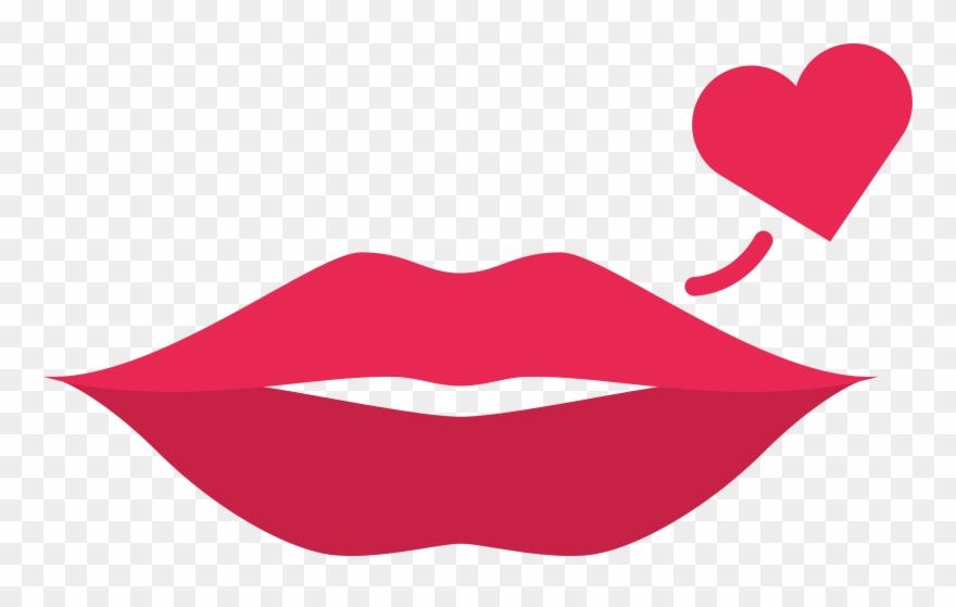 Lips clipart simple lip. Dibujo labios rojos png