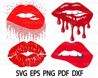 Lips clipart svg. Etsy