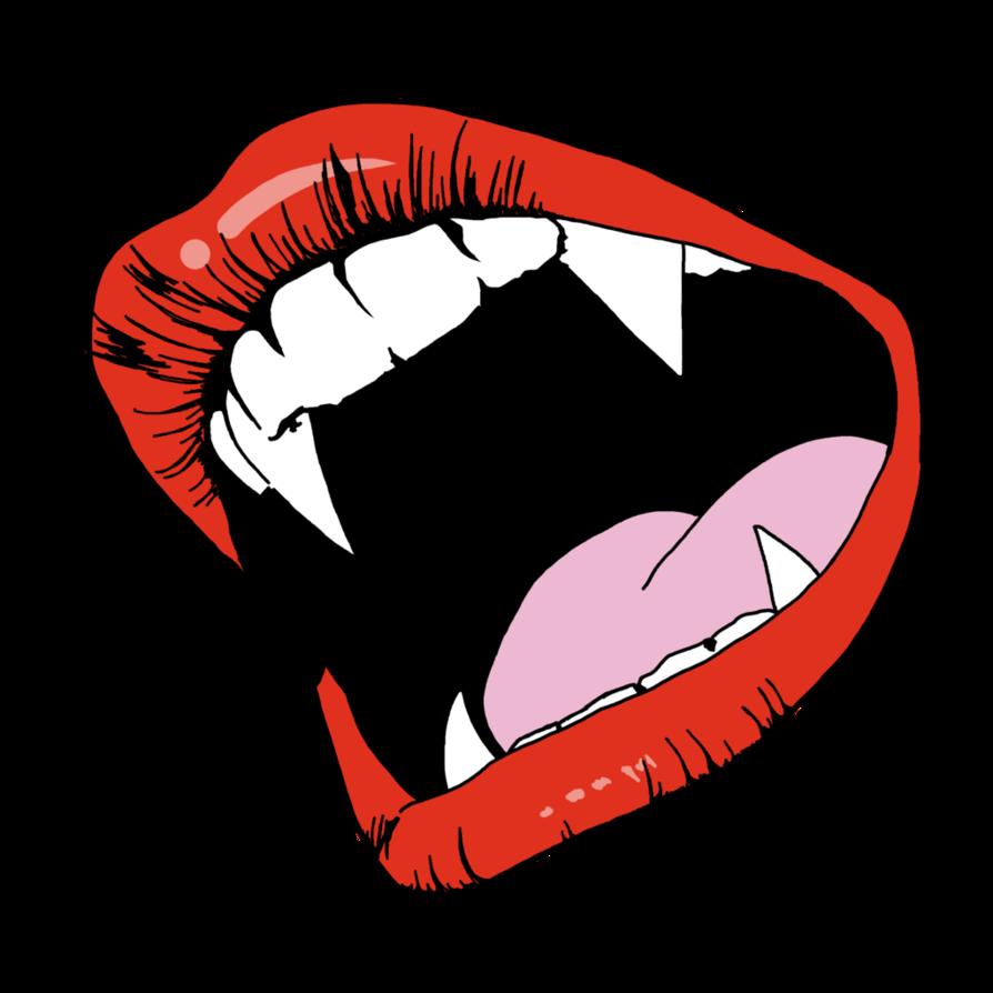 Fangs by foxyblues on. Vampire clipart lip
