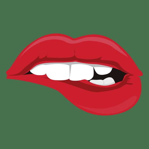 Lips vector png. Biting expression transparent svg