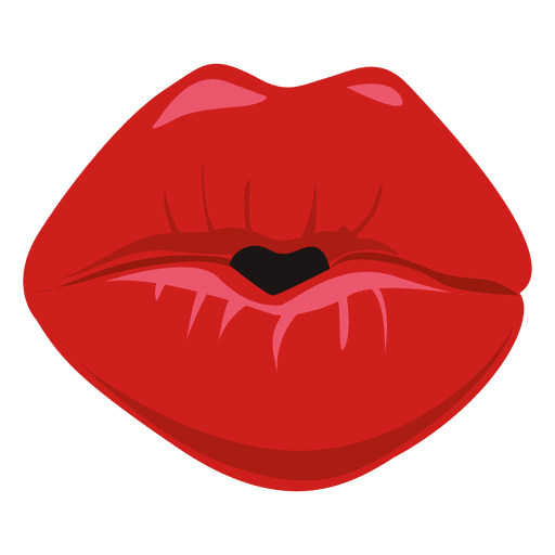 Lips vector png. Kissing expression image download