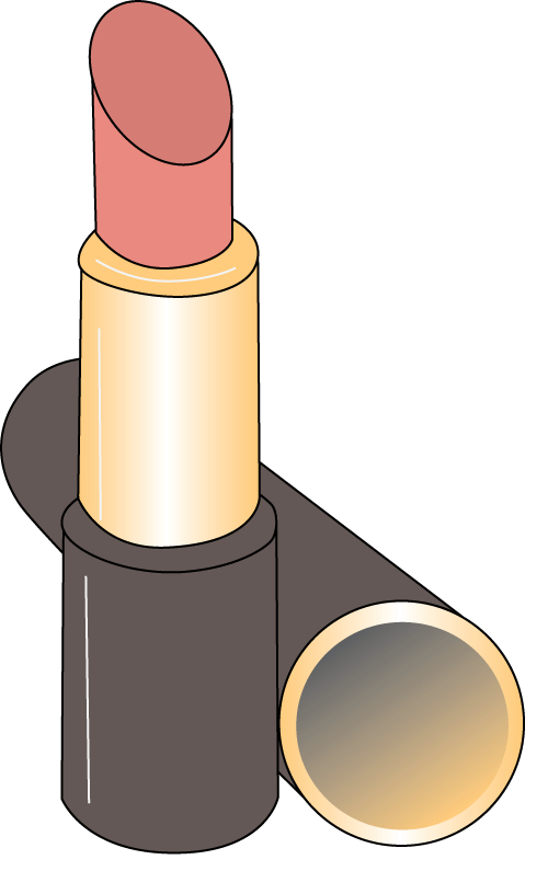 collection of makeup. Lipstick clipart concealer