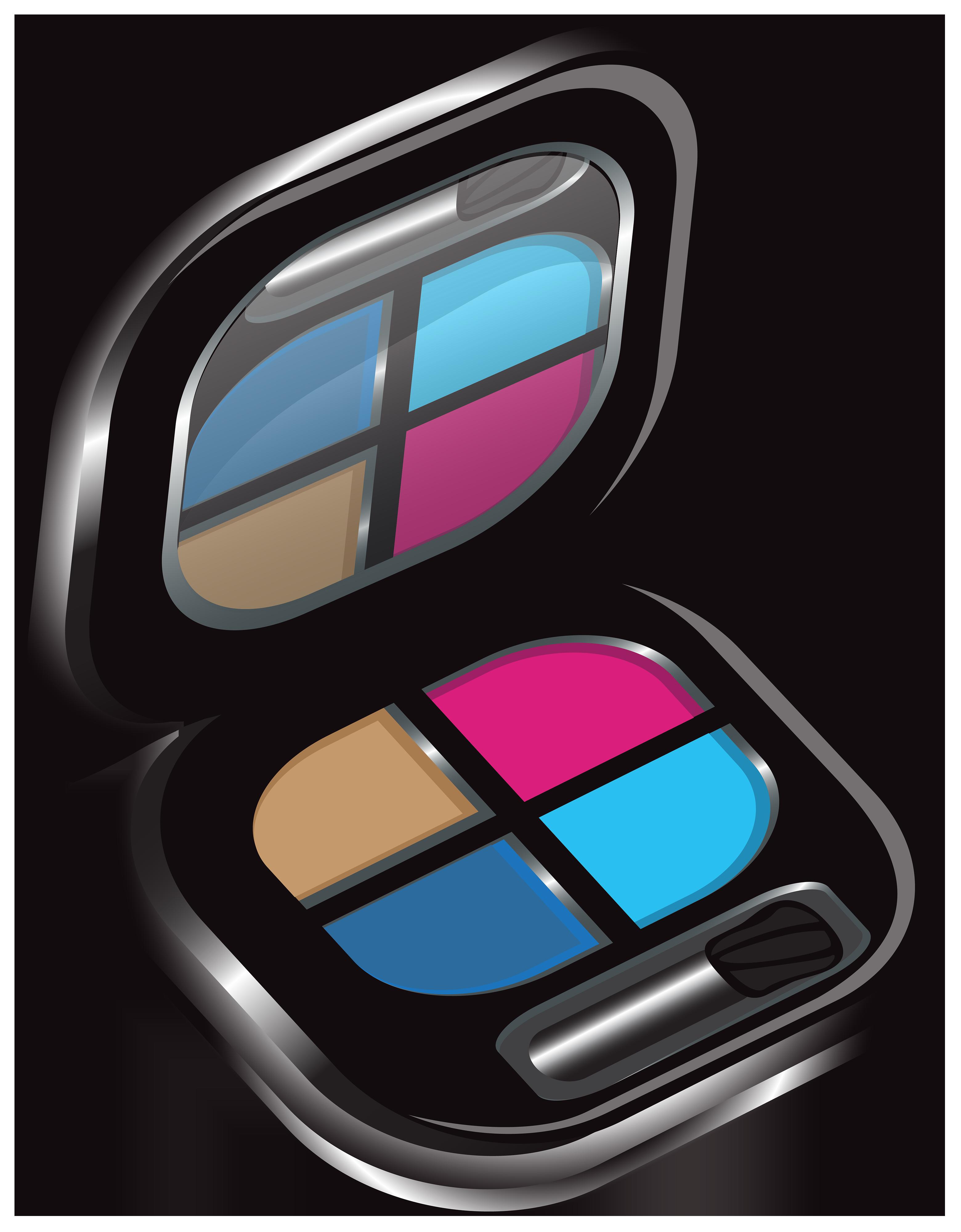 Lipstick clipart eye shadow. Cosmetics clip art eyeshadows