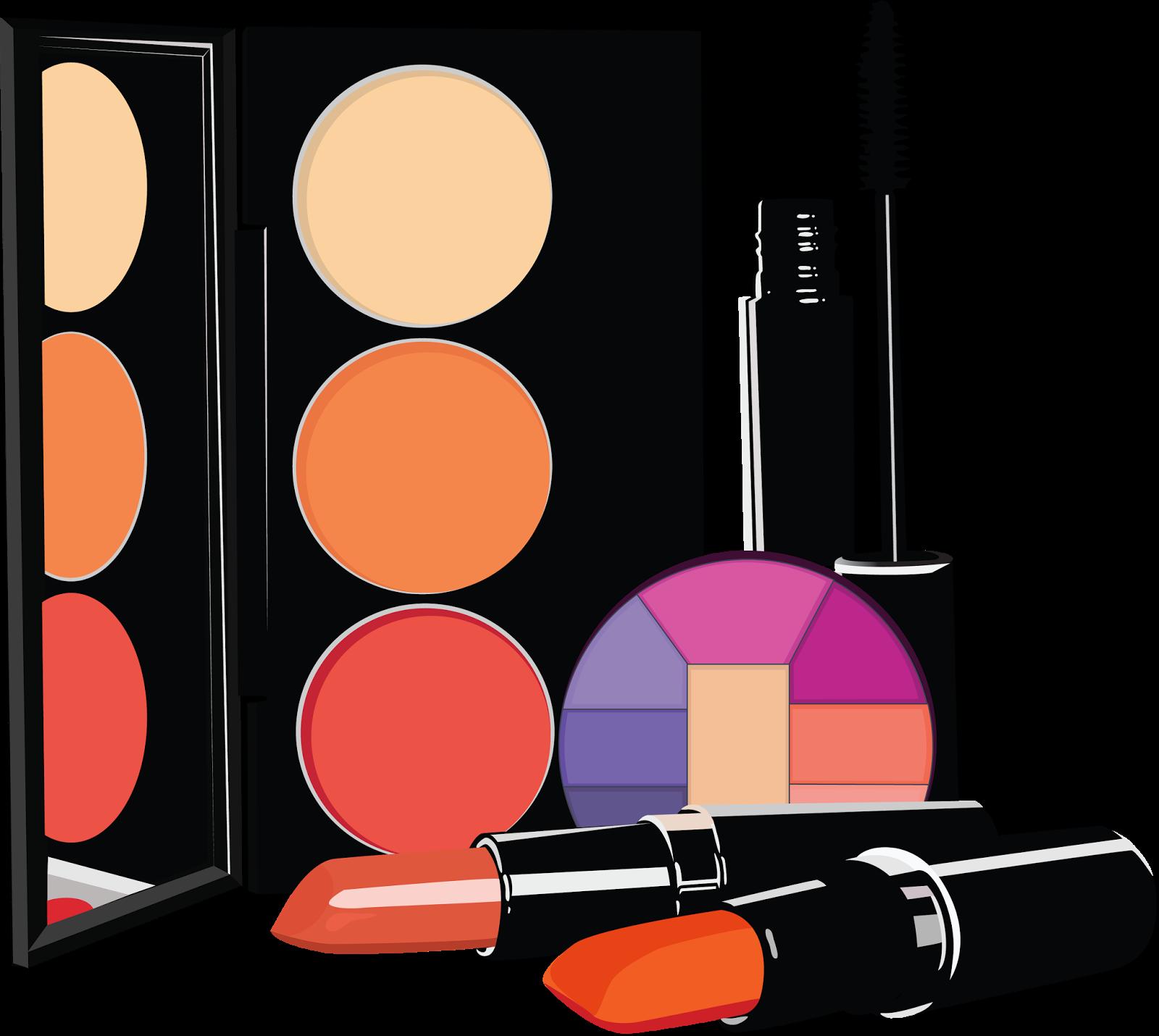 Lipstick clipart eye shadow. Cosmetics beautician clip art