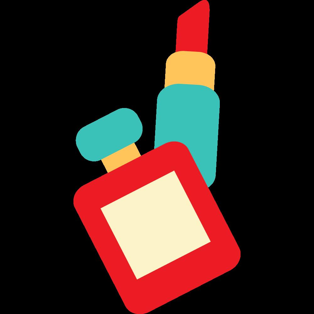 Lipstick clipart flat icon. Perfume cartoon transprent png