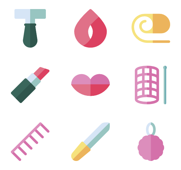 beauty cosmetic makeup. Lipstick clipart flat icon