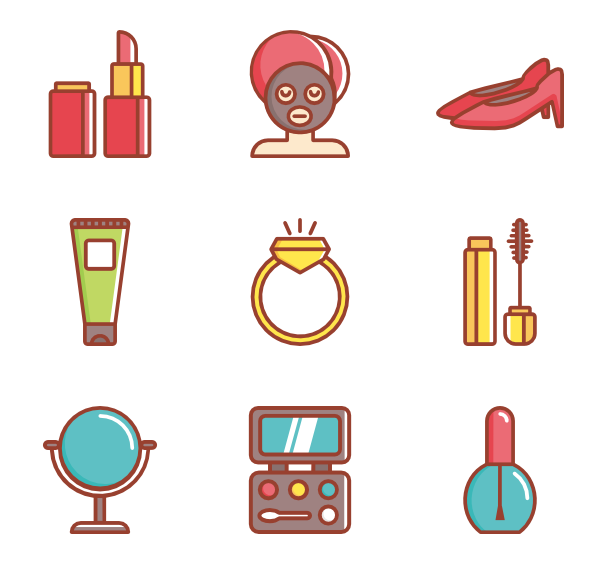 Lipstick clipart flat icon.  beauty cosmetic makeup