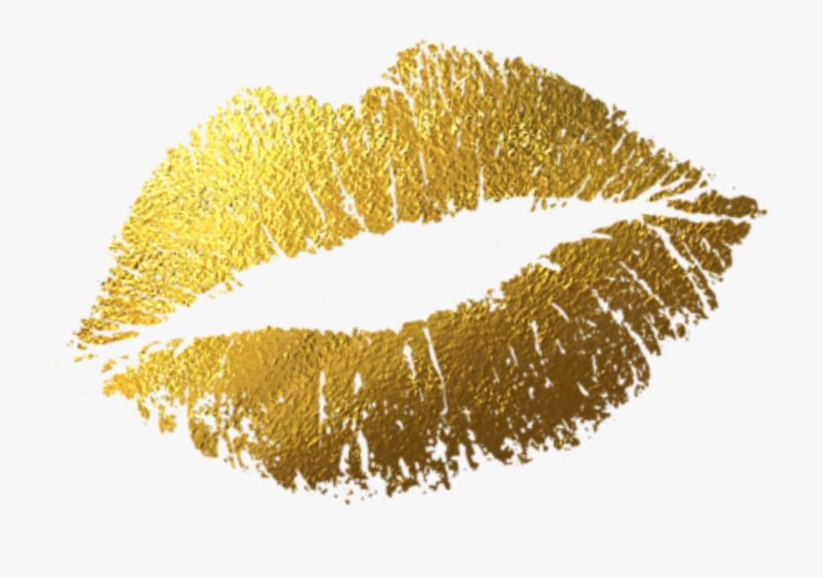 Lips png kiss free. Lipstick clipart gold lipstick