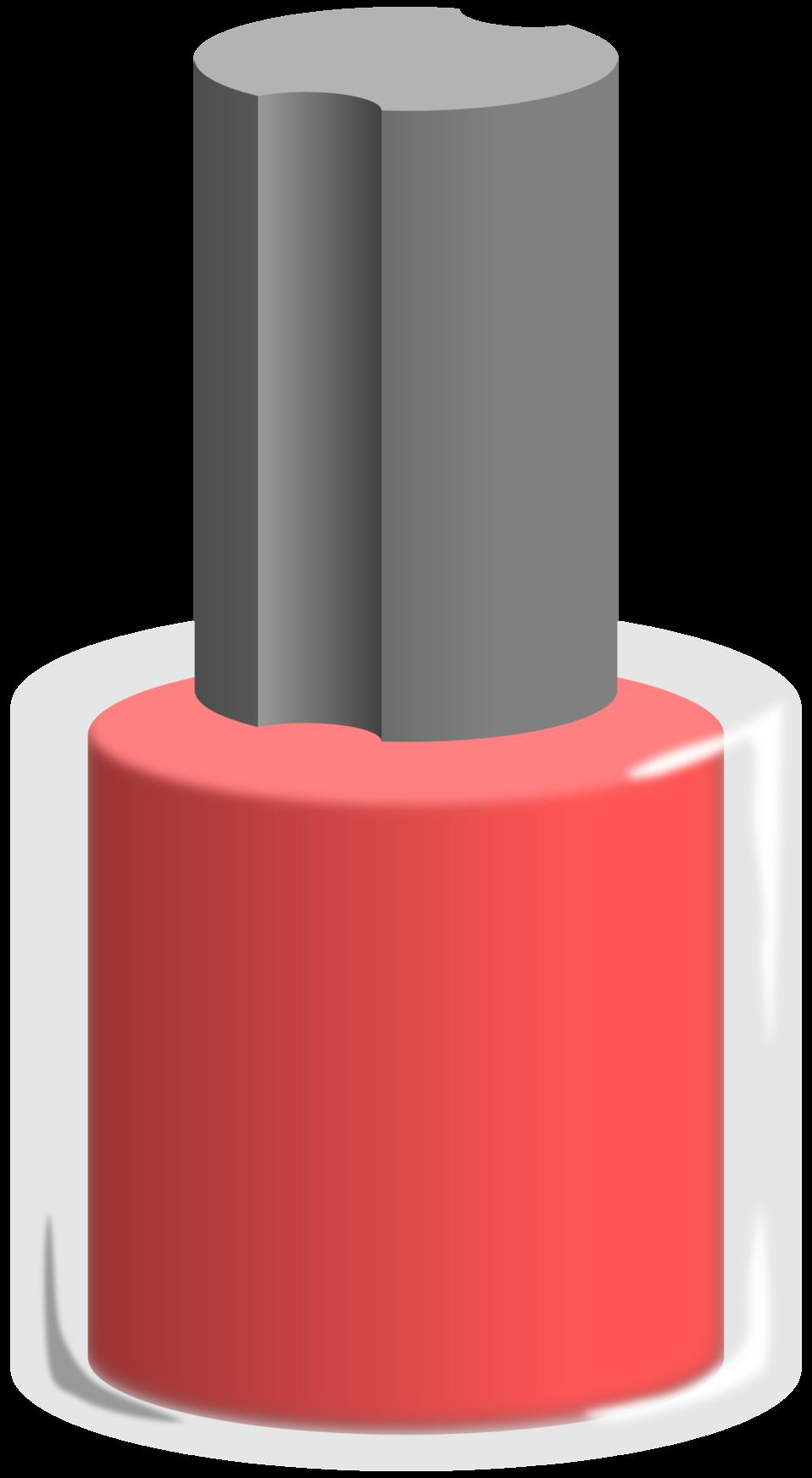 Public domain clip art. Nail clipart nail polish bottle