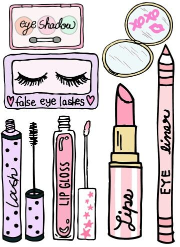 Stickers ohmygoshsocute in illustration. Lipstick clipart makeup tumblr