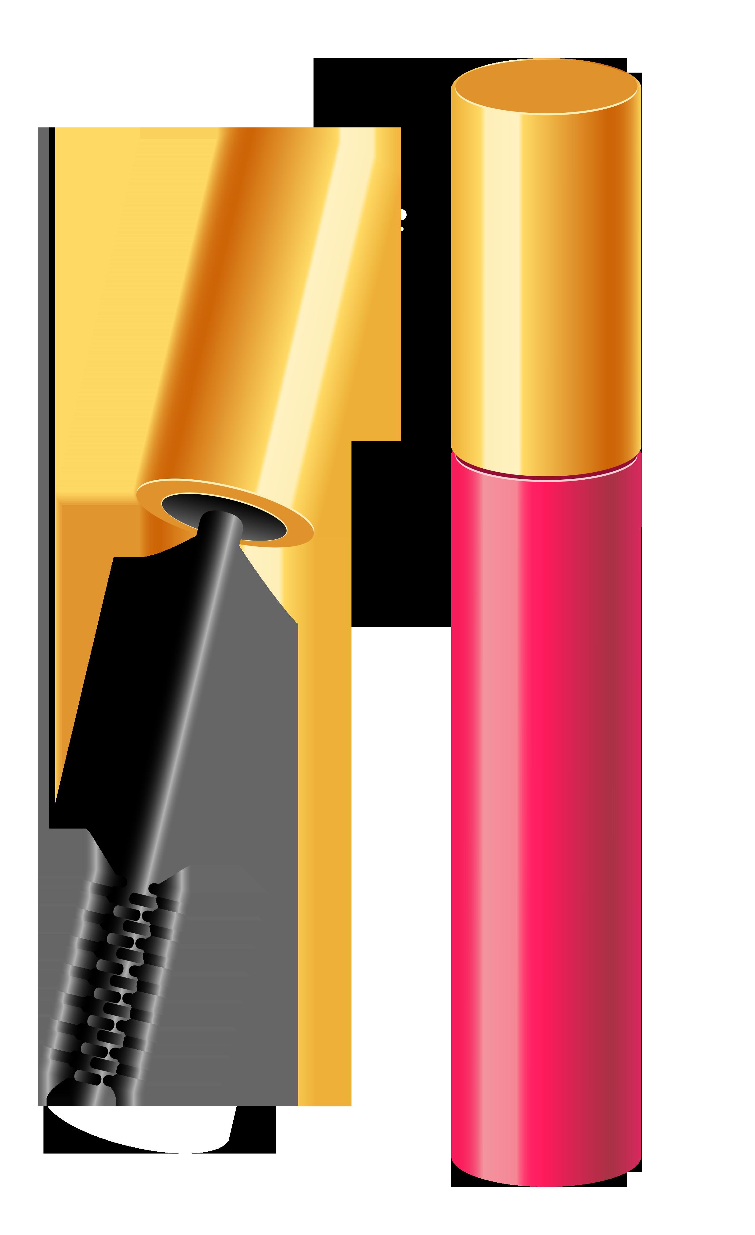 Lipstick clipart mascara. Cosmetics clip art png