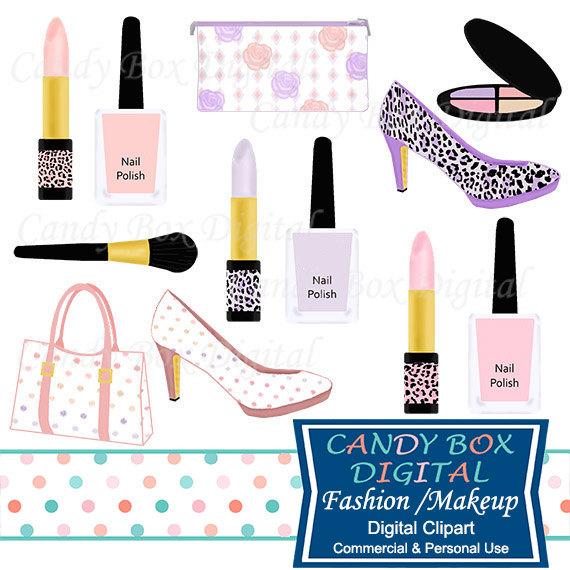 Fashion and makeup diva. Lipstick clipart purse