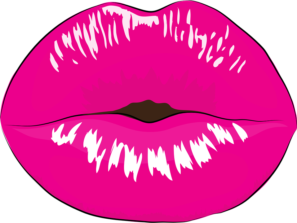 Lipstick clipart vector. Girl pink lips png