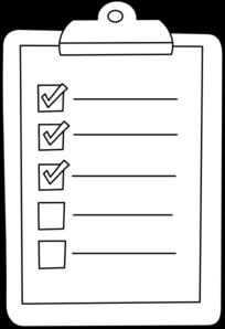 Check outline clip art. List clipart