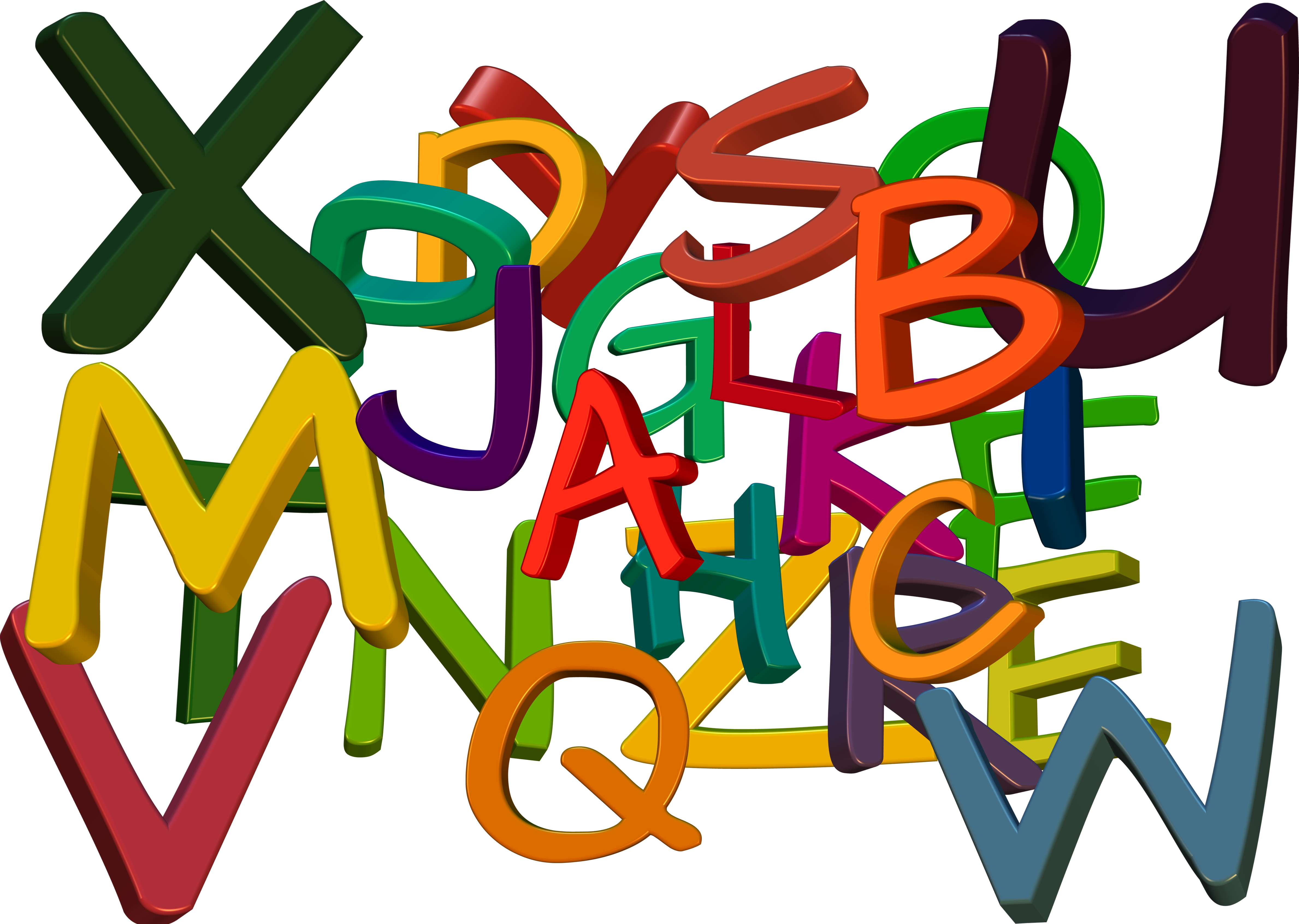 Abc colorful letters free. Literacy clipart alphabet