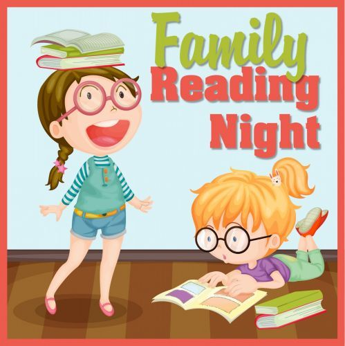 Reading pto today . Literacy clipart family literacy night