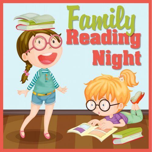 Reading pto today . Literacy clipart family literacy night