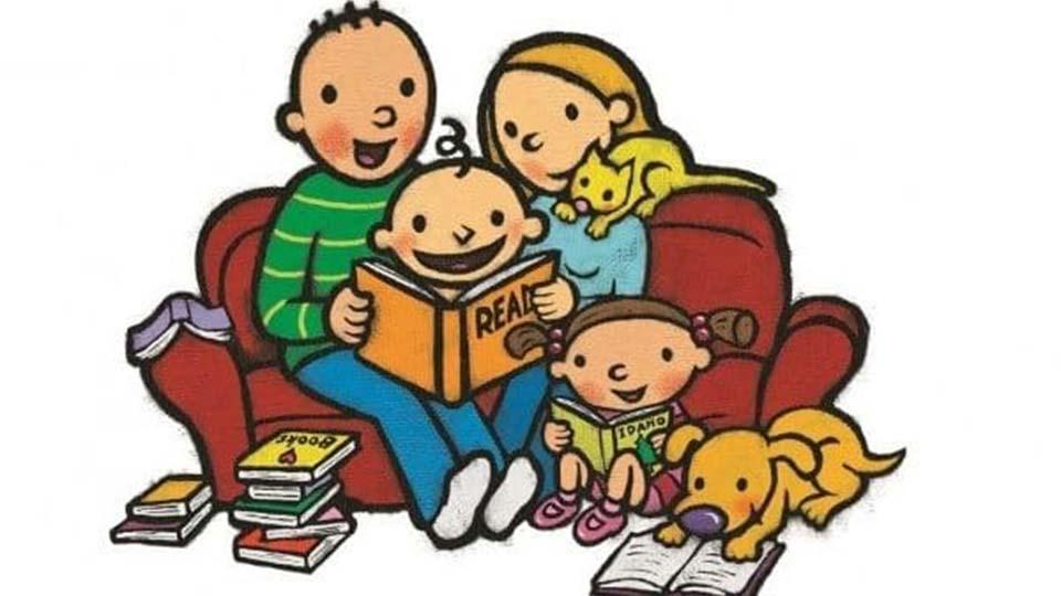 Family windsor community unit. Storytime clipart literacy night