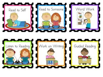 Reading and math center. Literacy clipart rotation