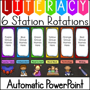 Literacy clipart rotation. Centers automatic center powerpoint