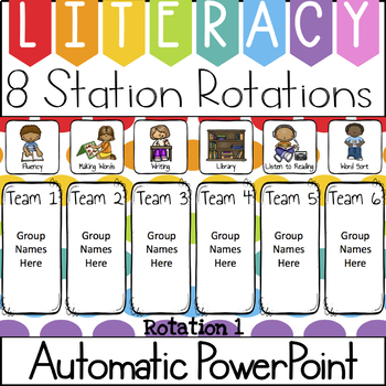 Center rotations automatic powerpoint. Literacy clipart rotation