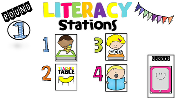 Center powerpoint rotations . Literacy clipart rotation