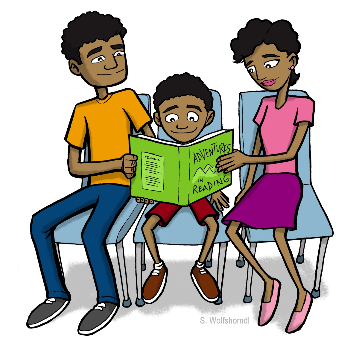 Family clip art library. Literacy clipart share