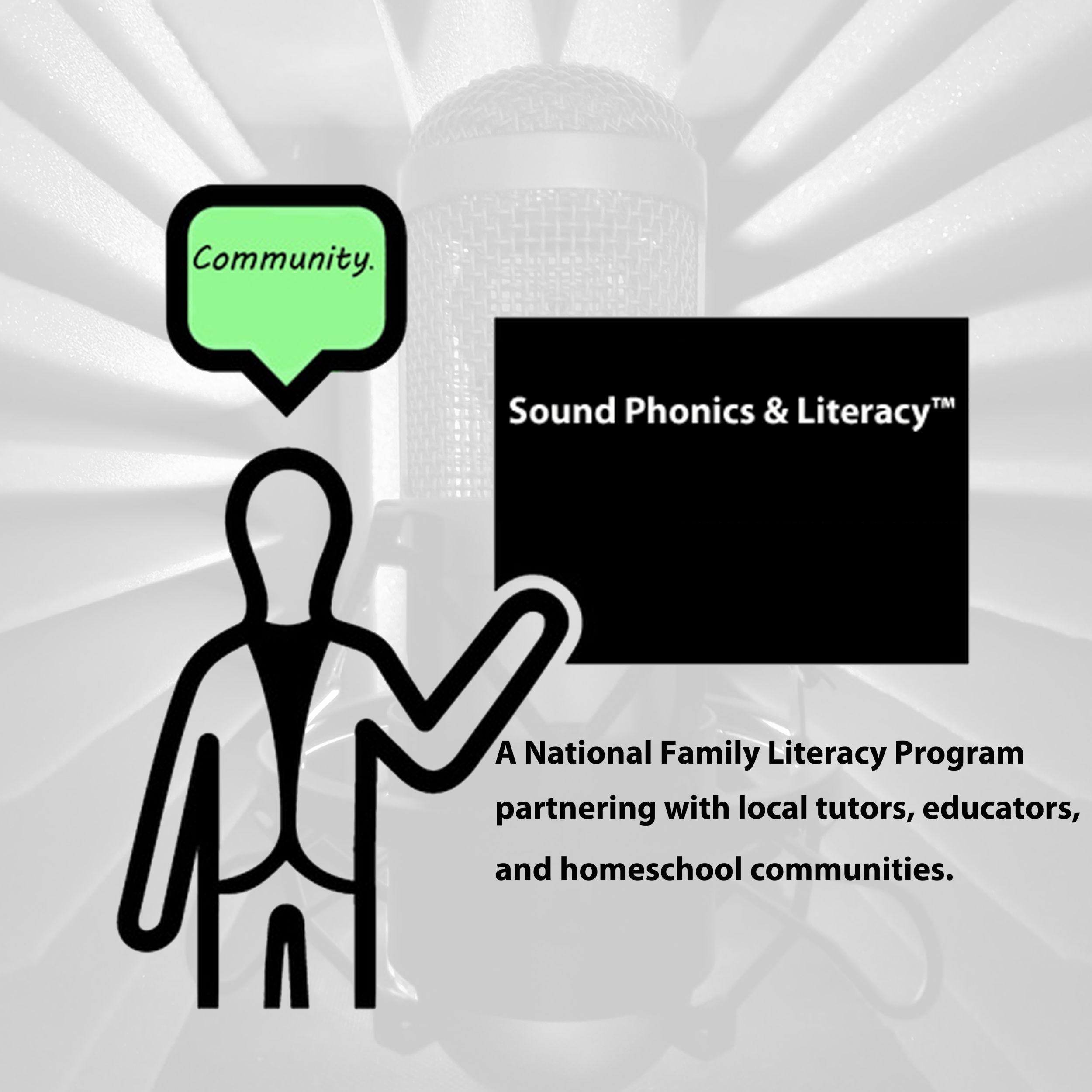 Sound phonics and media. Literacy clipart tutoring