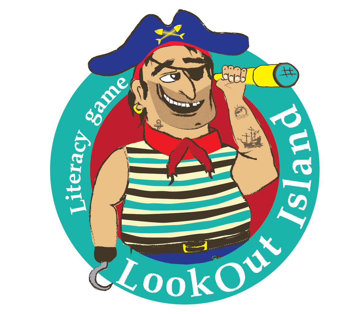 Home lookout island . Spelling clipart literacy game