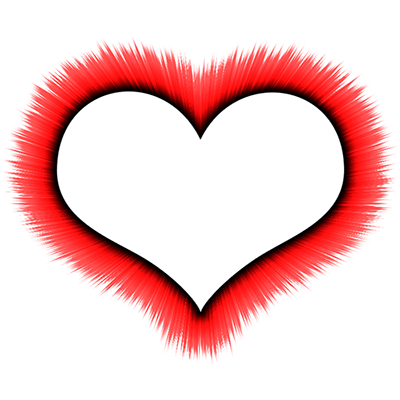 Heart outline on fire. Little hearts png