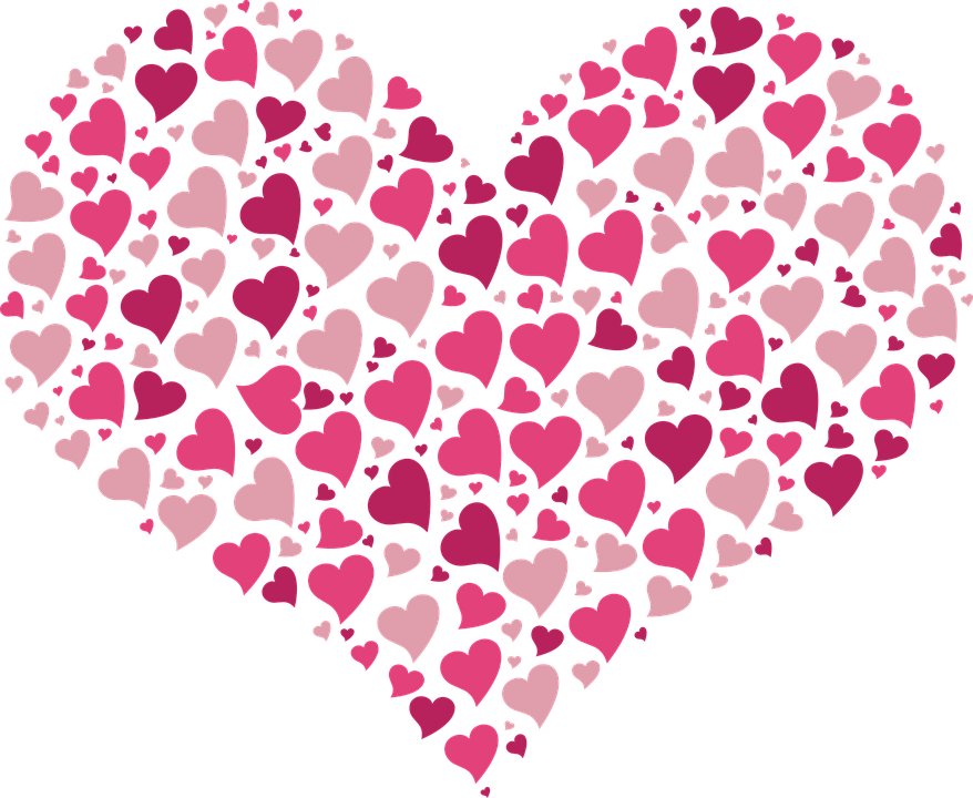 Heart full of pink. Little hearts png