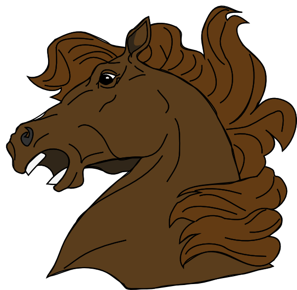 Angry horse clip art. Liver clipart illustration