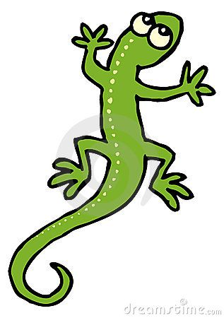 Lizard clipart. Cartoon gecko clip art