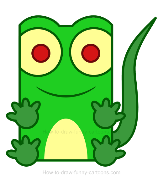 Lizard clipart. How to draw a