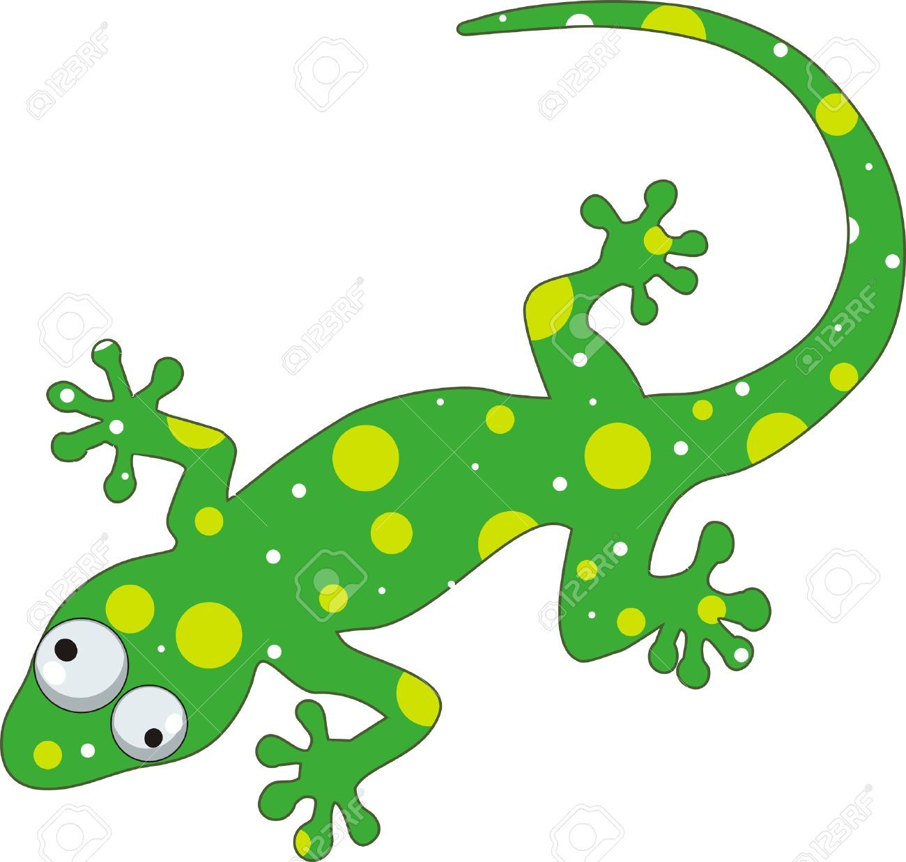 Chameleon cliparts stock vector. Lizard clipart