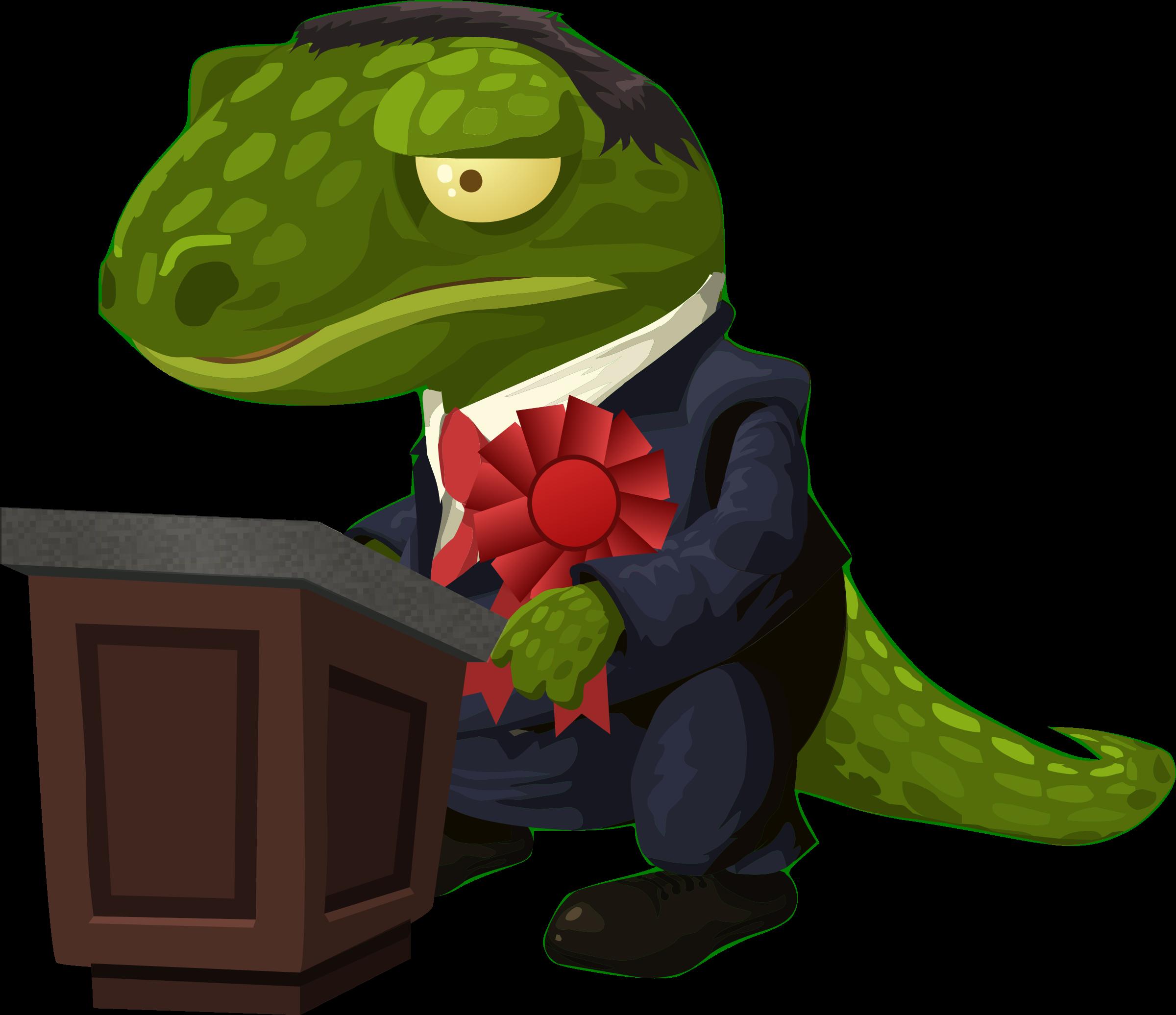 Very important lizard gives. Politics clipart politician speech