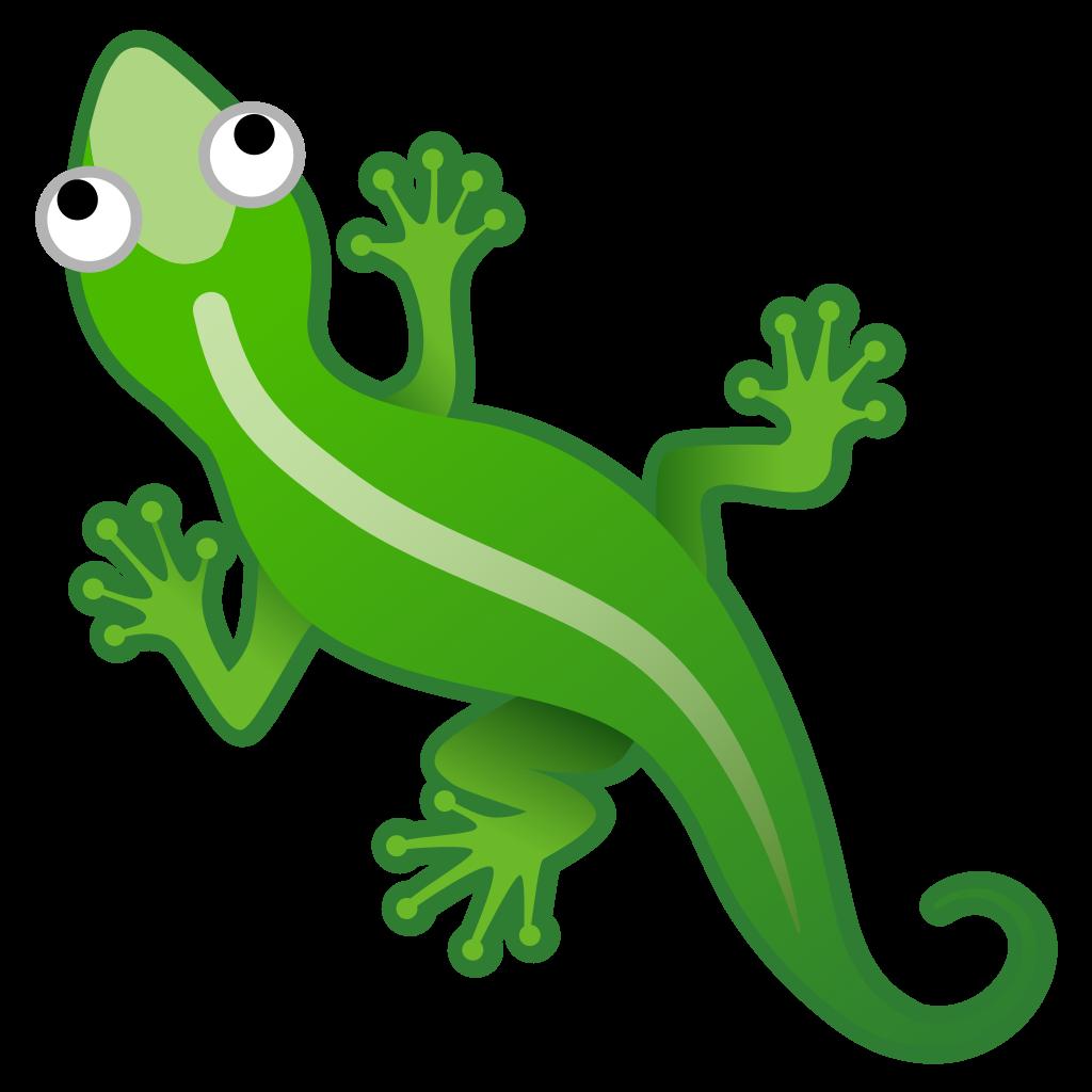 Icon noto animals nature. Lizard clipart emoji
