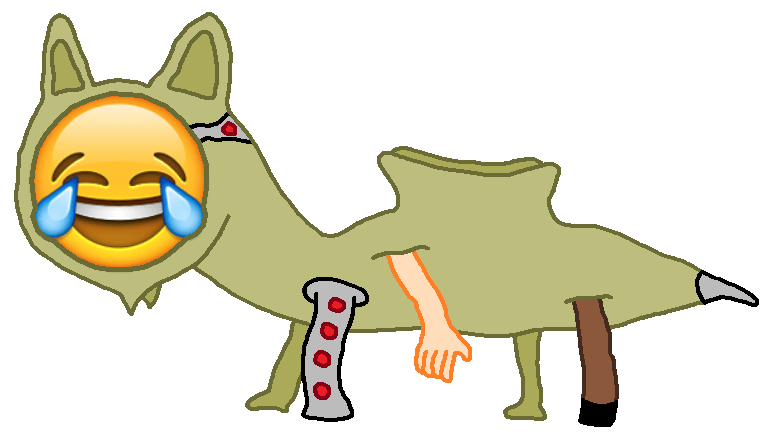 Tron emojitron . Lizard clipart emoji