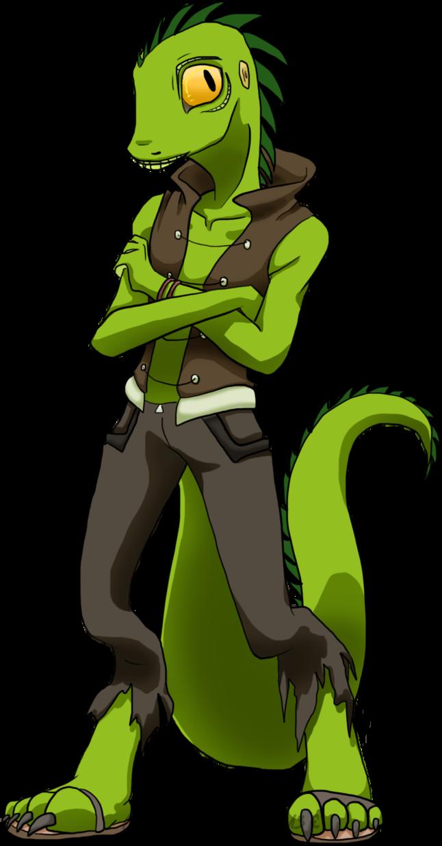 Man by celestnny on. Lizard clipart green lizard