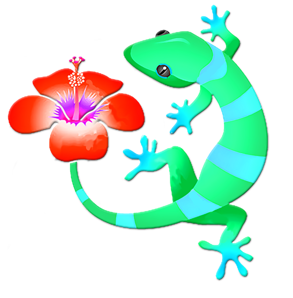 Blue and green with. Lizard clipart jungle