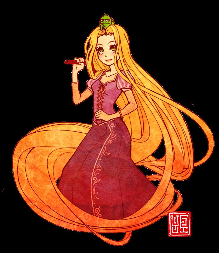 Tangled by yufei on. Rapunzel clipart fan