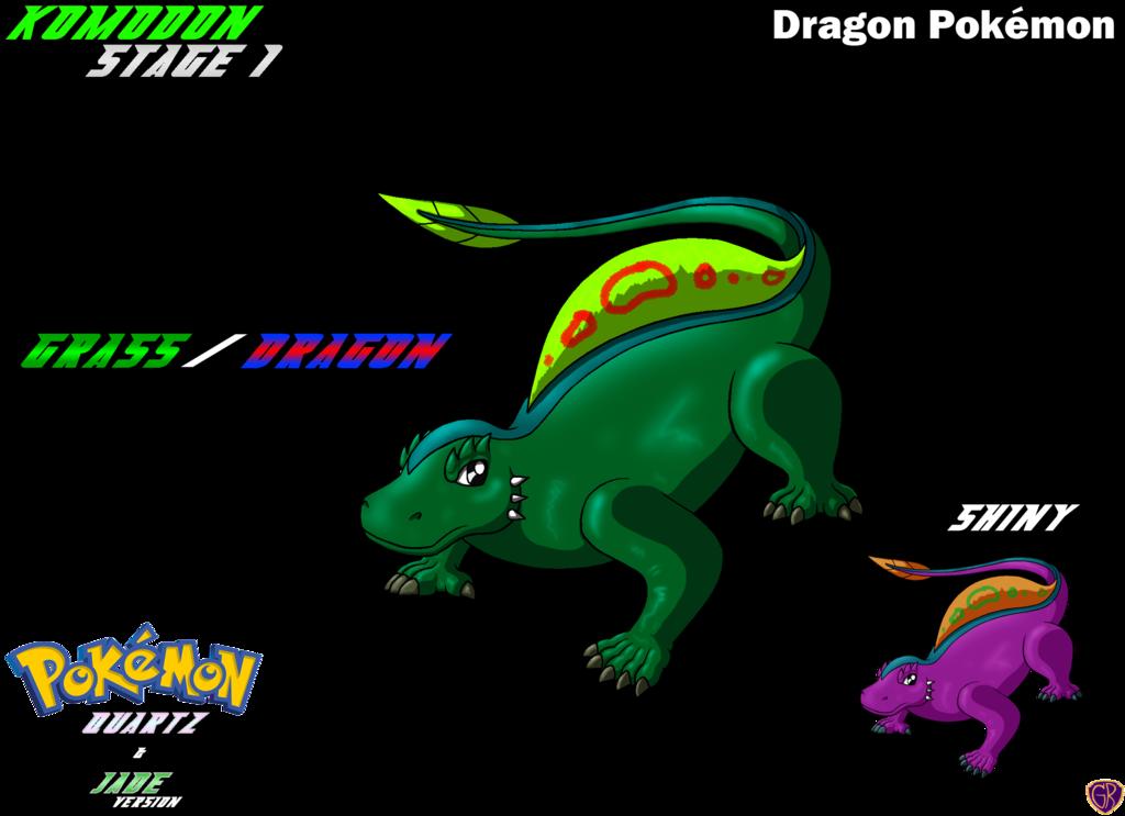 Lizard clipart water dragon. Fakemon starter komodon by