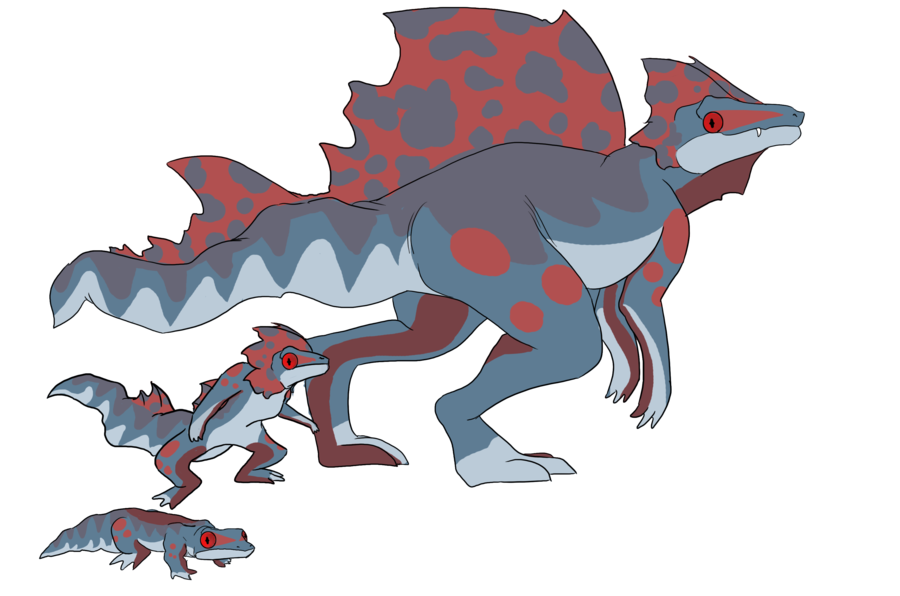 Fire and fakemon by. Lizard clipart water dragon